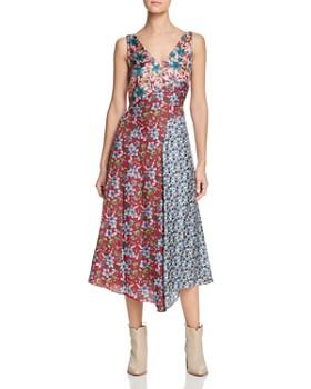 68e62750e6 Johnny Was - Bella Paneled Silk Midi Dress ...