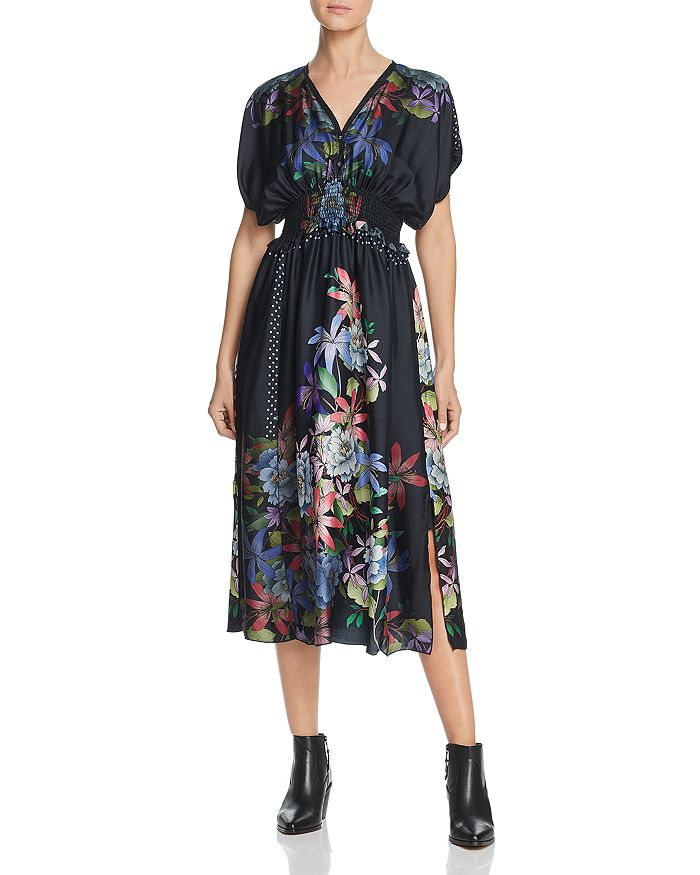 Johnny Was - Kelly Printed Silk Midi Dress