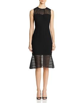 Elie Tahari - Paris Sheer Inset Dress