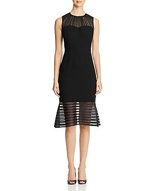 Elie Tahari Paris Sheer Inset Dress