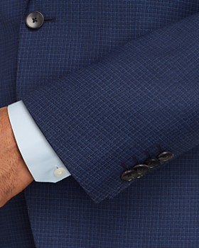 BOSS - Johnstons/Lenon Mélange Micro-Checked Regular Fit Suit - 100% Exclusive