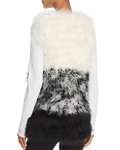 525 America - Color-Blocked Feather Vest