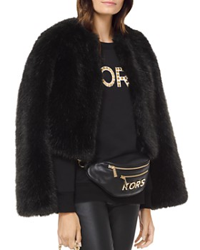 MICHAEL Michael Kors - Cropped Faux-Fur Coat