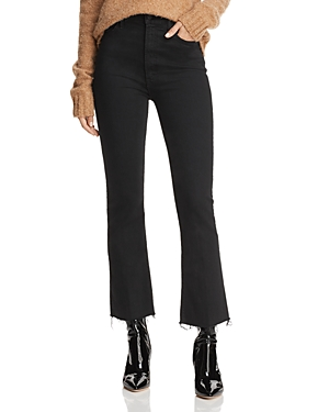 Mother Hustler Ankle Fray Bootcut Jeans in Not Guilty-Women