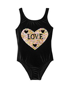 PilyQ - Girls' Flip-Sequin Velvet One-Piece Swimsuit - Little Kid, Big Kid