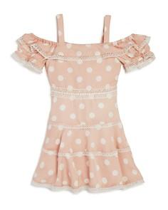 Bardot Junior - Girls' Isola Polka-Dot Cold-Shoulder Dress - Big Kid