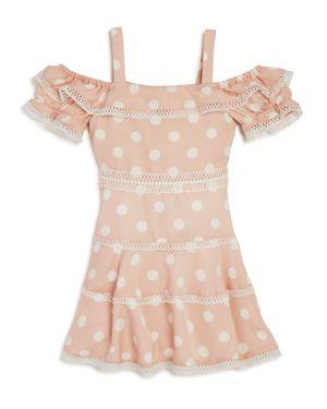 Bardot Junior Girls' Isola Polka-Dot Cold-Shoulder Dress - Big Kid
