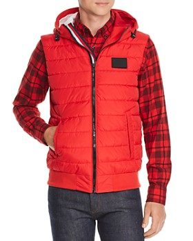 24ae6962 Tommy Hilfiger - Stripe-Trimmed Mixed-Media Puffer Vest ...