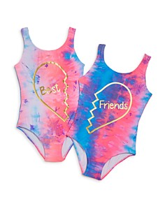 PilyQ - Girls' Best Friends Swimsuits - Little Kid, Big Kid