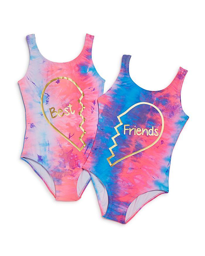 c8ada1758d3 PilyQ Girls' Best Friends Swimsuits - Little Kid, Big Kid ...