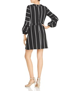 Laundry by Shelli Segal - Striped Puff Sleeve Dress
