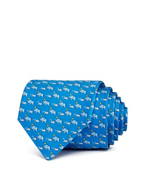Salvatore Ferragamo - Elephants, Mice & Hearts Silk Classic Tie