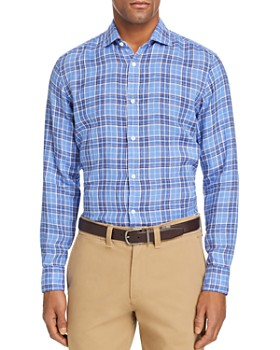 Z Zegna - Plaid Linen Regular Fit Button-Down Shirt - 100% Exclusive