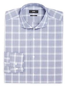 BOSS - Glen Plaid Slim Fit Dress Shirt