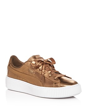 PUMA - Women s Basket Low-Top Platform Sneakers ... 743469b3a
