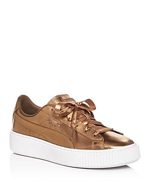 Puma Women's Basket Low-Top Platform Sneakers