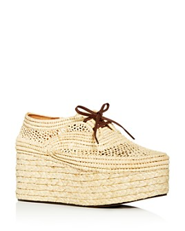 Clergerie - Women's Pollux Woven Platform Wedge Oxfords