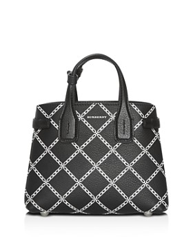 9814f9994a3cb5 Burberry - Link Print Leather Tote ...