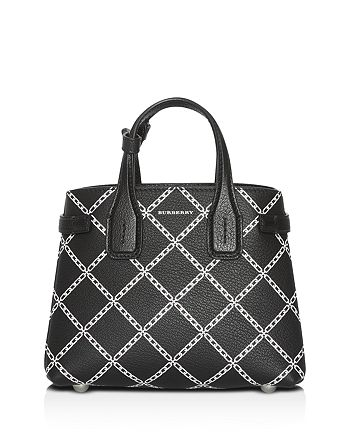 Burberry - Link Print Leather Tote