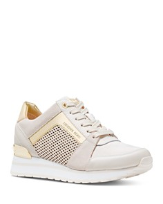 MICHAEL Michael Kors - Women's Billie Mixed Media Lace-Up Sneakers