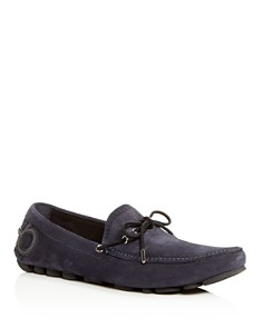 Salvatore Ferragamo - Men's Atlante Suede Moc-Toe Drivers