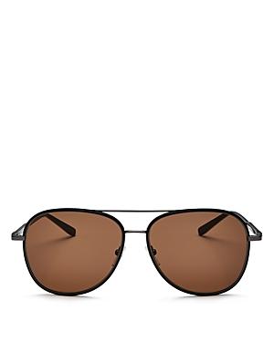 Salvatore Ferragamo Men's Brow Bar Aviator Sunglasses, 60mm