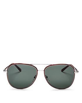 Salvatore Ferragamo - Men's Brow Bar Aviator Sunglasses, 60mm