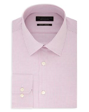 The Men's Store at Bloomingdale's Shadow-Checked Slim Fit Dress Shirt - 100% Exclusive