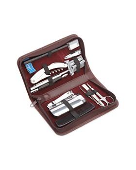 ROYCE New York - Leather Travel & Grooming Toiletry Kit