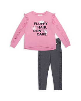 kate spade new york - Girls' Fluffy-Hair Top & Leggings Set - Little Kid