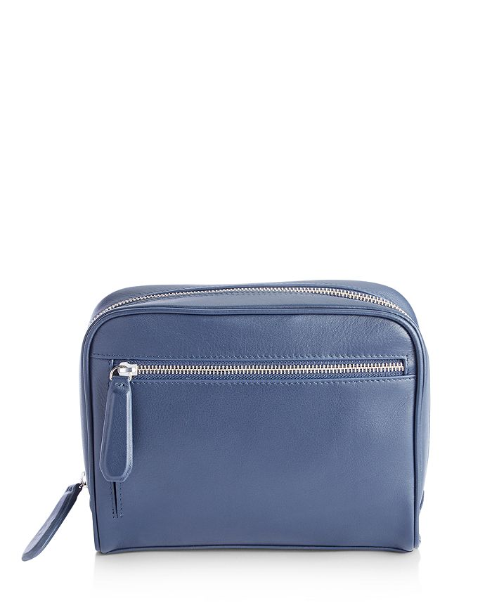 ROYCE New York - Leather Toiletry Travel Bag