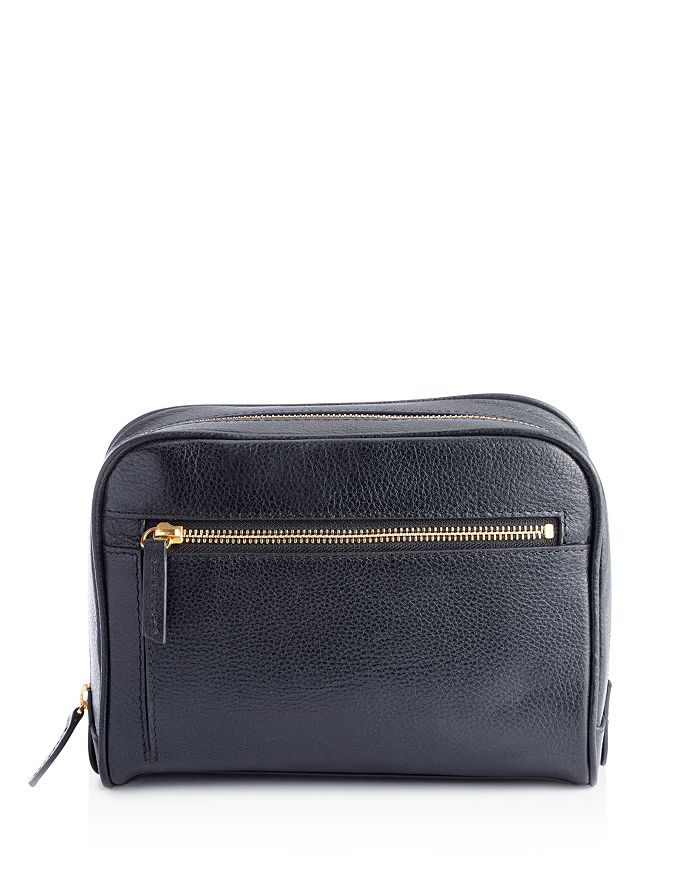ROYCE New York - Pebbled Leather Toiletry Travel Bag