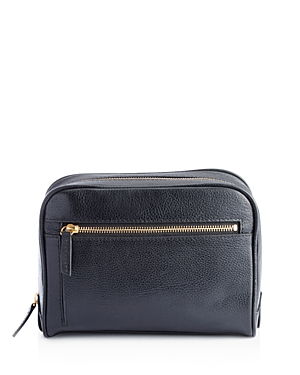 Royce New York Pebbled Leather Toiletry Travel Bag