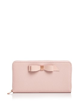 4d84887ee3c53b Ted Baker - Aine Matinee Bow Zip Around Wallet ...