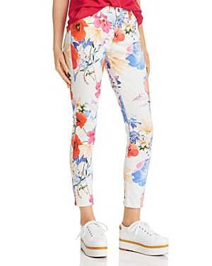 7 FOR ALL MANKIND   7 For All Mankind Printed Ankle Skinny Jeans in Seaside Poppies   Goxip