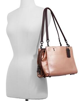 COACH - 1941 Rogue Metallic Leather & Snakeskin Shoulder Bag