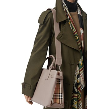 Burberry - Leather & Vintage Check Medium Tote