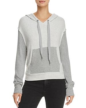Splendid Sylvie Color-Block Hooded Sweatshirt