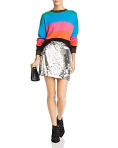 PAM & GELA - Metallic-Trim Striped Cropped Sweater