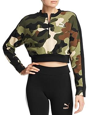 PUMA | Puma Wild Pack T7 Cropped Camo Sweatshirt | Goxip