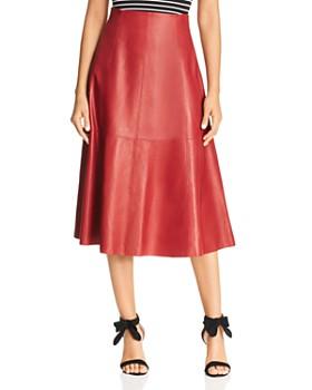 2c261975c532 kate spade new york - Leather Midi Skirt ...