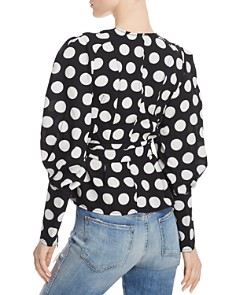 C/MEO Collective - Polka Dot Wrap Blouse