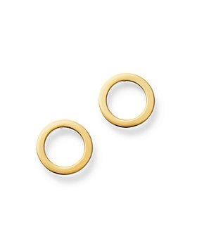 Moon & Meadow - Open Circle Stud Earrings in 14K Yellow Gold - 100% Exclusive
