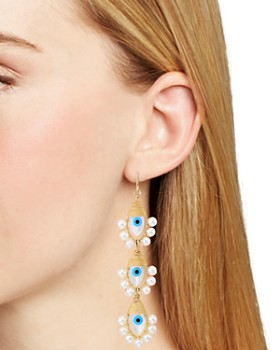 Beck Jewels - Lolita Evil Eye Linear Drop Earrings