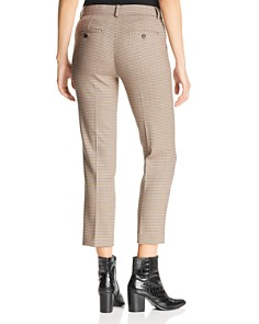 Theory - Treeca Checked Cropped Pants