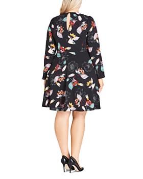 6bd80492909 ... City Chic Plus - Tie-Front Floral Dress