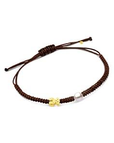 TOUS - 18K Yellow Gold XXS Bear & Cultured Freshwater Pearl Cord Bracelet