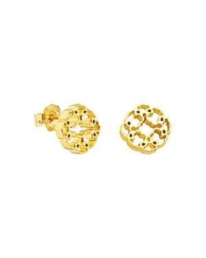 Tous 18K Yellow Gold Mosaic Earrings
