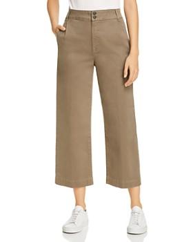 FRAME - Wide-Leg Cropped Pants