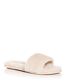 Rebecca Minkoff - Women's Palah Shearling Slide Sandals